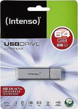 USB MEMORY STICK 64GB INTENSO SREBRNI