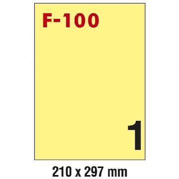 ETIKETE ILK 210*297 FOR.F-100 u boji