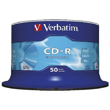 CD-R 700/80 VERBATIM 52X SPINDL PK50