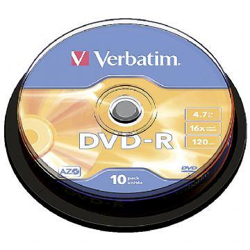 DVD-R  VERBATIM 1/10 SPINDLE