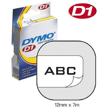 DYMO TRAKA 12X7M 45013 BLACK ON WHITE
