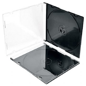 BOX ZA CD SC1 PLASTIČNI SLIM CRNI