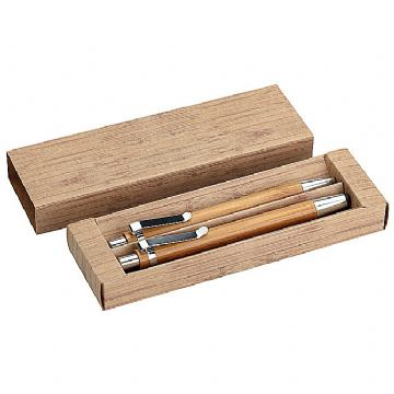 Garnitura olovka kemijska + olovka tehnička bambus
