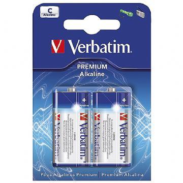 Baterija alkalna 1,5V C pk2 Verbatim 49922 LR14 blister