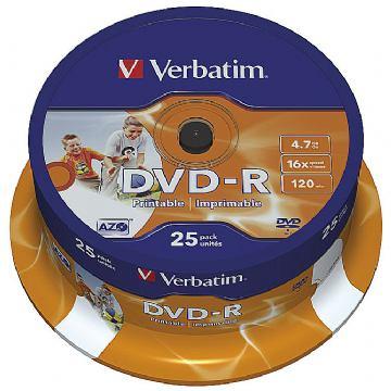 DVD-R VERBATIM PRINTABLE PK25