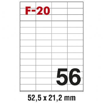 ETIKETE ILK 52,5X21,2  F-20 PK100