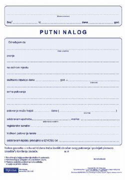 I-210/NCR NALOG ZA SL.PUT. NN
